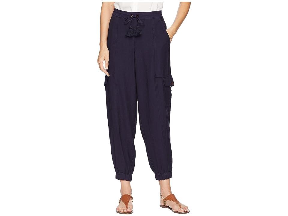 1.STATE Flat Front Cargo Pants (Night Navy) Women