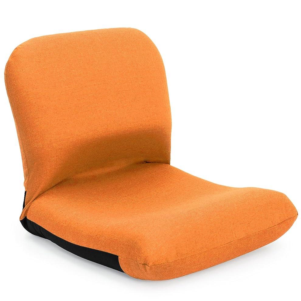 座椅子 産学連携 背中を支える 美姿勢座椅子 CBC313 オレンジ 日本製 ymz-104
