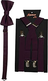 Spencer J's Men's X Back Suspenders & Bowtie Set Variety of Colors
