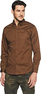 Spykar Men's Solid Slim Fit Casual Shirt