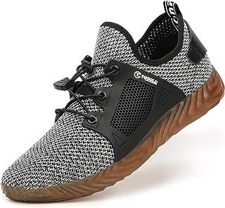 TQGOLD® Homme Femmes Chaussure de Securité été Chaussures de Travail avec Embout de Protection en Acier Chaussure