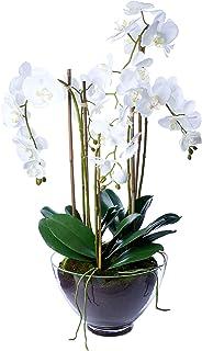 Décor Villa O124W Artificial Orchid, White
