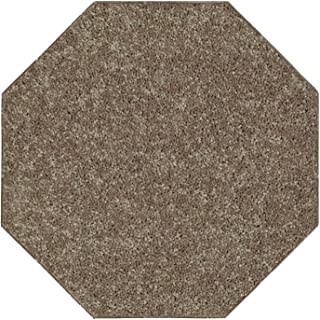 Ambiant Pet Friendly Solid Color Area Rug Brown -2' Octagon