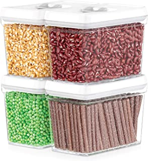 DWËLLZA KITCHEN Airtight Food Storage Containers - Pantry Snacks Kitchen Container, Baking Supplies, 4LB Sugar & Flour Can...