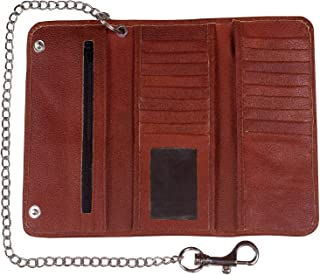 leather motorcycle wallet with chain