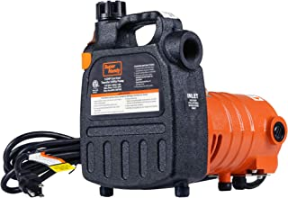 "SuperHandy Water Transfer Pump Utility 1/2 HP 1525 GPH Dual Thread 3/4"" Inch GHT 40' Feet Head Lift 120VAC Electric Heavy ..."