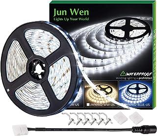 Waterproof LED Strip Lights 16.4ft/5M Neon Lighting 2835 6000K Daylight White 300LEDS 12V Battery Powered Supply Under Cab...