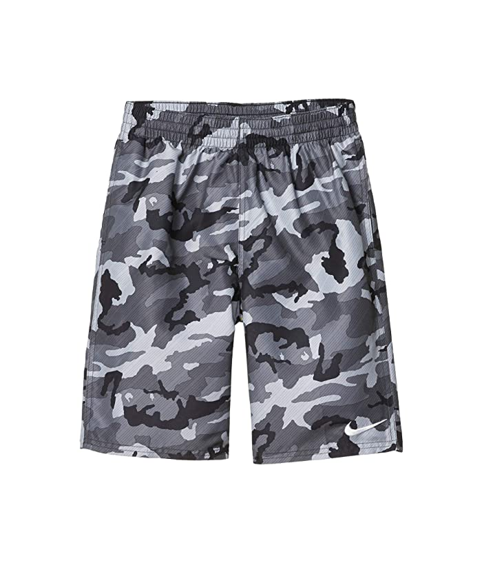 Nike Kids  8 Camo Volley Shorts (Little Kids/Big Kids) (Black) Boys Swimwear