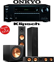 Klipsch RP-280F 3.1 Reference Premiere Home Theater System with Onkyo TX-NR656 7.2-Ch Network A/V Receiver