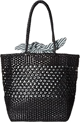 Maya Woven Leather Shopper Tote