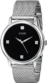 GUESS Men's Stainless Steel Diamond Dial Mesh Bracelet Watch
