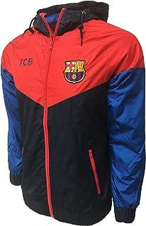 FC Barcelona Waterproof Hoodie, Lightweight Rain Jacket for Adults, Officail Barcelona Training Jacket, Rain Coat