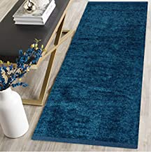 RN home furnishing Polyester Soft Indoor Modern Shag Area Rug Carpet with Feather Touch for Dining Room, Home Bedroom, (Blue Colour) (22 x 55)