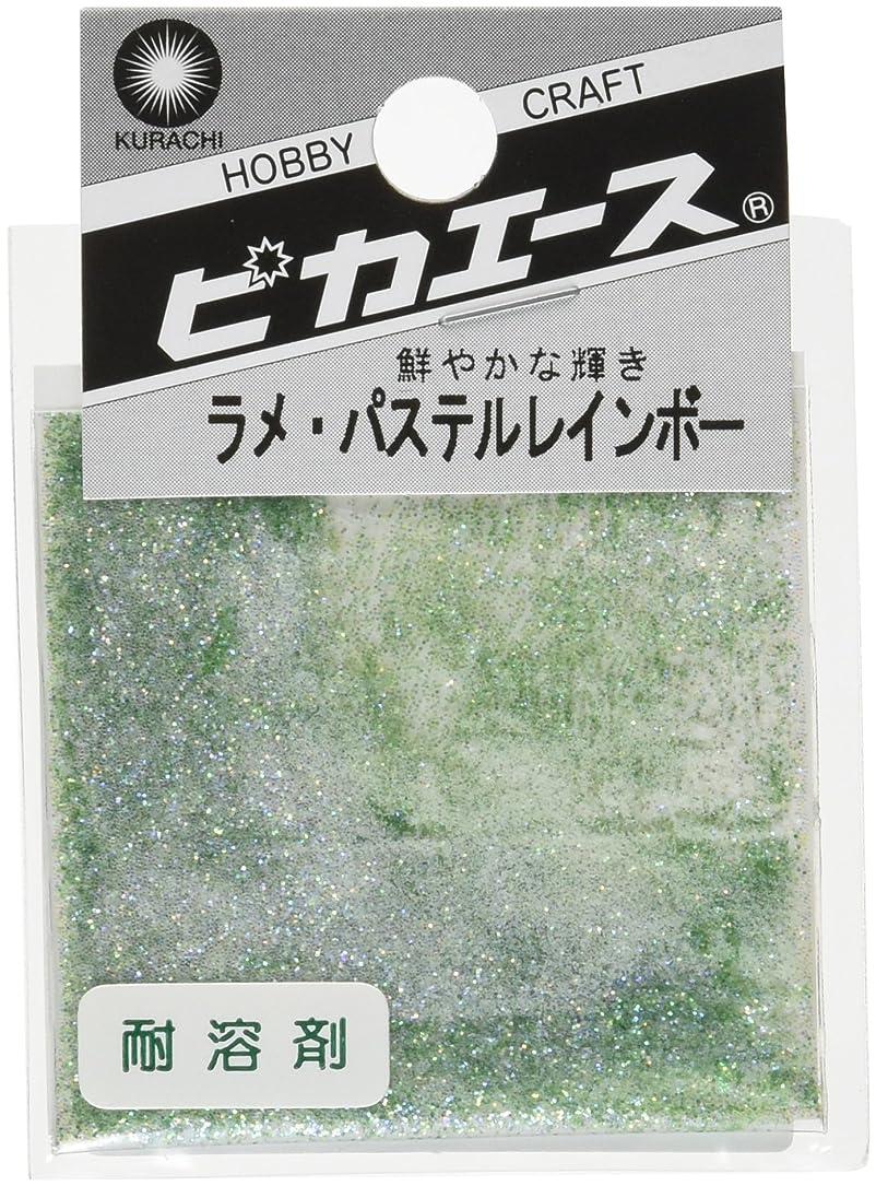 ぼろベンチャー味ピカエース ネイル用パウダー ピカエース ラメパステルレインボー S #450 グリーン 0.7g アート材