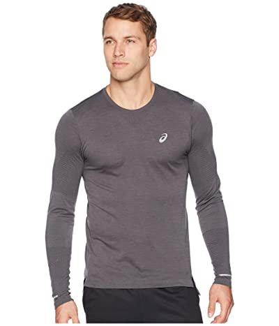 ASICS Seamless Long Sleeve (Dark Grey Heather) Men