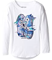 Converse Kids - Drip Drop Shoulder Tee (Toddler/Little Kids)