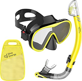 Sponsored Ad - 2020 Dry Top Snorkel Set with Adjustable Dual Strap - Enjoy Swimming, Snorkeling & Scuba Diving with Anti-F...