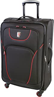 Atlantic Ribbon 2 Expandable Spinner Luggage 28-inch, Black/Red, Checked – Large (Model:AL19478167)
