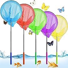 Vlindernet voor kinderen, set van 5 stuks, telescopisch kinderschepnet, klein vangnet voor buiten, uittrekbaar tuinvlinder...