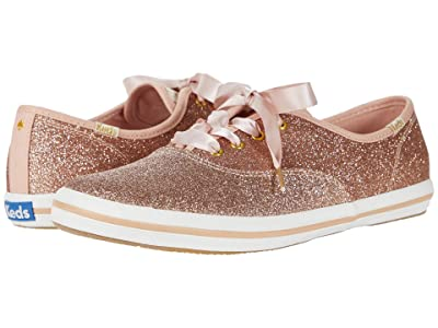 Keds x kate spade new york Kids Champion Glitter (Little Kid/Big Kid) (Rose Gold) Girl
