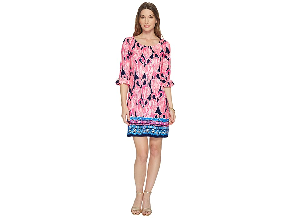 Lilly Pulitzer UPF 50+ Sophie Ruffle Dress (High Tide Navy Via Amor Engineered) Women