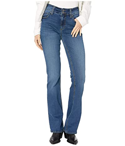KUT from the Kloth Natalie High-Rise Bootcut Wide Double Button in Question w/ Dark Stone Base Wash (Question/Dark Stone Base Wash) Women