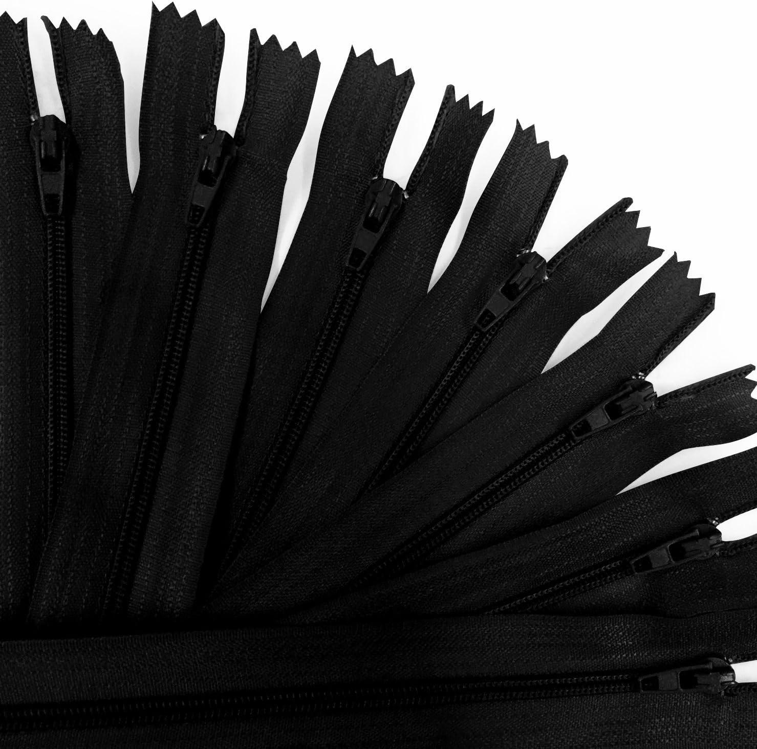 KGS 12 inch Ranking TOP8 Brand Cheap Sale Venue Nylon Zipper Pack Black 100 Zippers