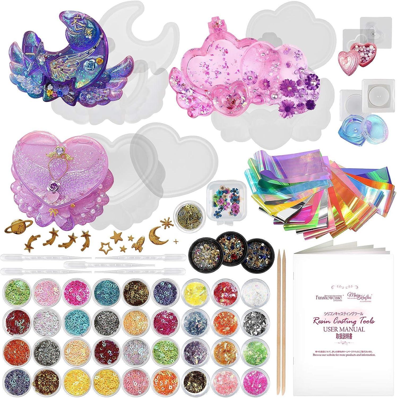 Funshowcase Trinket Box Resin Silicone Set Making Las Vegas Max 76% OFF Mall 8 Mold Jewelry