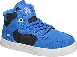 Supra Infants Toddler Vaider Blue Black White Shoes Size