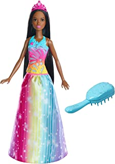 Barbie Dreamtopia Rainbow Cove Brush 'n Sparkle Princess, Brunette
