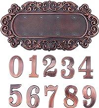 VORCOOL Huis Adres Plaques Mailbox Nummer Borden Met Mteal Huis Nummer 0-9 Hotel Deur Adres Cijfers Sticker Plaat Teken Vo...