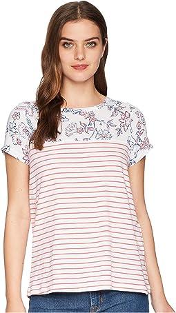 Suzy Jersey/Woven Mix T-Shirt