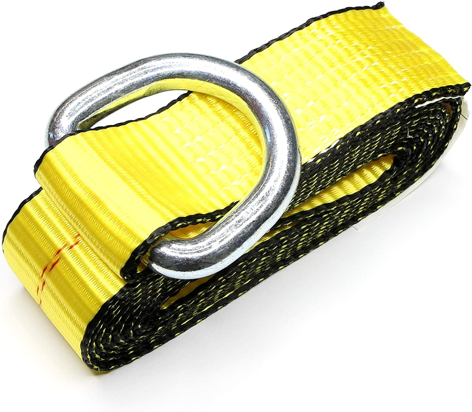 2 X 12ft Feet Lasso Strap with D Ring Auto Tie Down Pack of 4