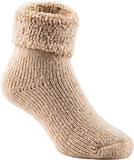 Lian LifeStyle Boy's 6 Pairs Extra Thick Wool Boot Socks Crew Plain Color LK01 (0Y-5Y)