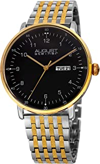 August Steiner Mens Quartz Watch, Analog Display and Stainless Steel Strap