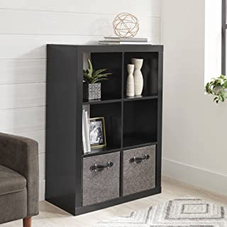 Better Homes and Gardens 6-Cube Decorative Organizer in Black Finish (Black)