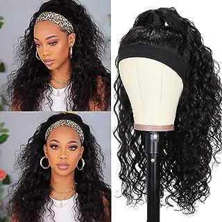 Sponsored Ad - Usexy Headband Wig Human Hair Water Wave Headband Wigs for Black Women Headband Wig Water Wave Human Hair W...