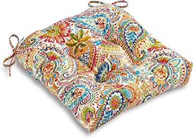 South Pine Porch Outdoor Jamboree Paisley 20-inch Seat Cushion, 1 Count (Pack of 1)