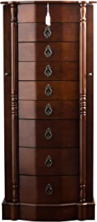 "Hives and Honey Robyn Jewelry Armoire, 41""H x 17.25""W x 12.5""D, Walnut"