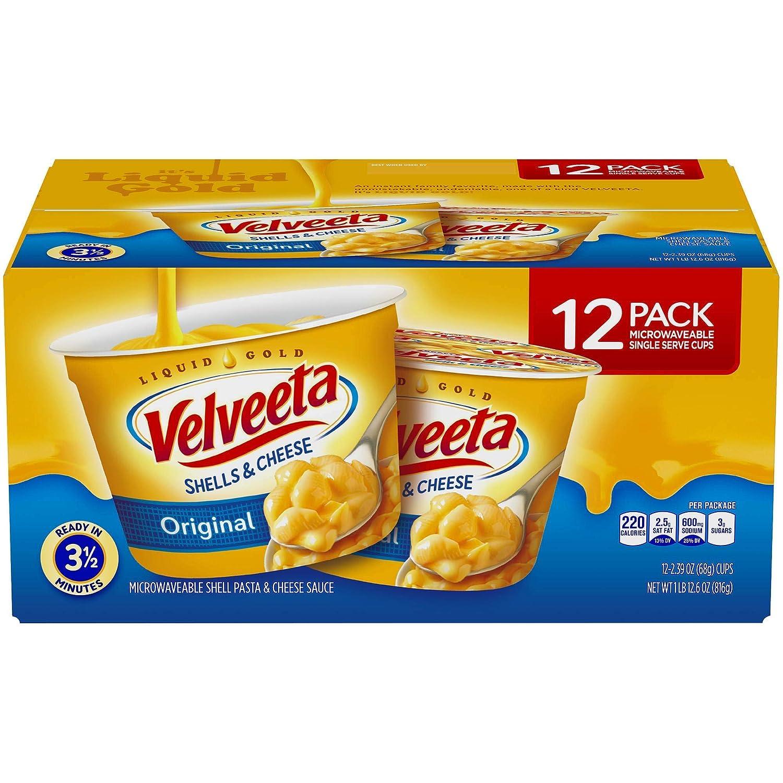 Price reduction Kraft Velveeta Shells Cheese Single-Serve Cups 12 ct. Purchase 2.39 oz
