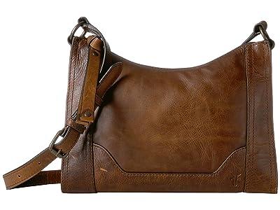 Frye Melissa Zip Crossbody (Dark Brown Antique Pull Up) Cross Body Handbags