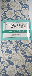 Traditions By Waverly Large Floral Print Microfiber Drying Mat 18