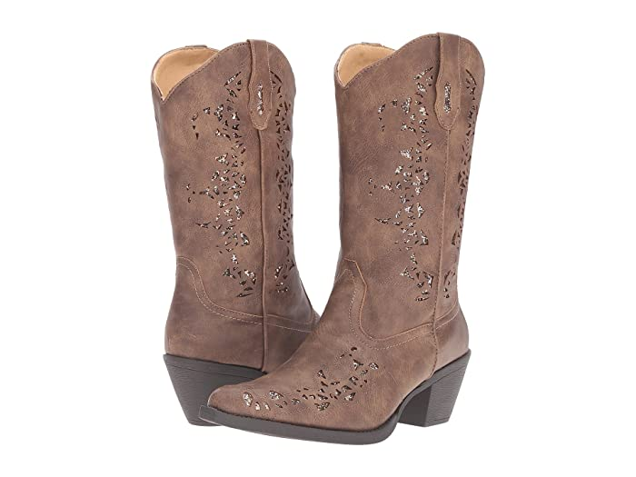 Roper  Alisa (Brown Faux Leather) Cowboy Boots