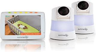 Summer Wide View 2.0 Duo Baby Video Monitor with 5-inch Screen and 2 Wide View Cameras