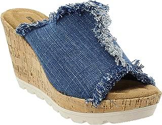 Women's, York High Heel Wedge Sandals