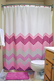 DII Oceanique 3-Piece Bathroom Set, Machine Washable, for Everyday Use, Kids, Teens, Includes 72x72 Shower Curtain, 12 Sho...