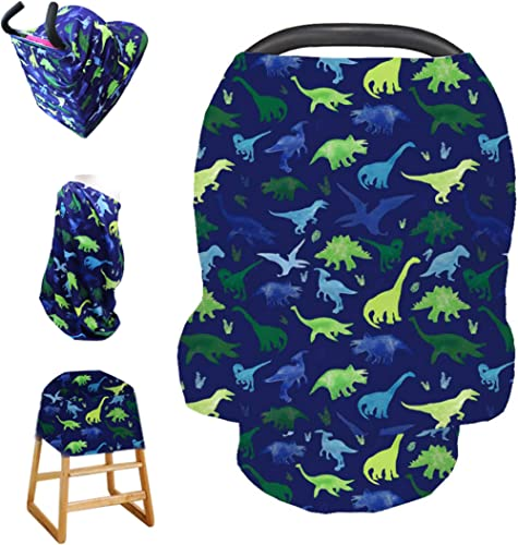 Stretchy Baby Car Seat Cover for Baby Boys and Girls,Multiuse - Nursing Breastfeeding Covers,Shopping Cart/High Chair...