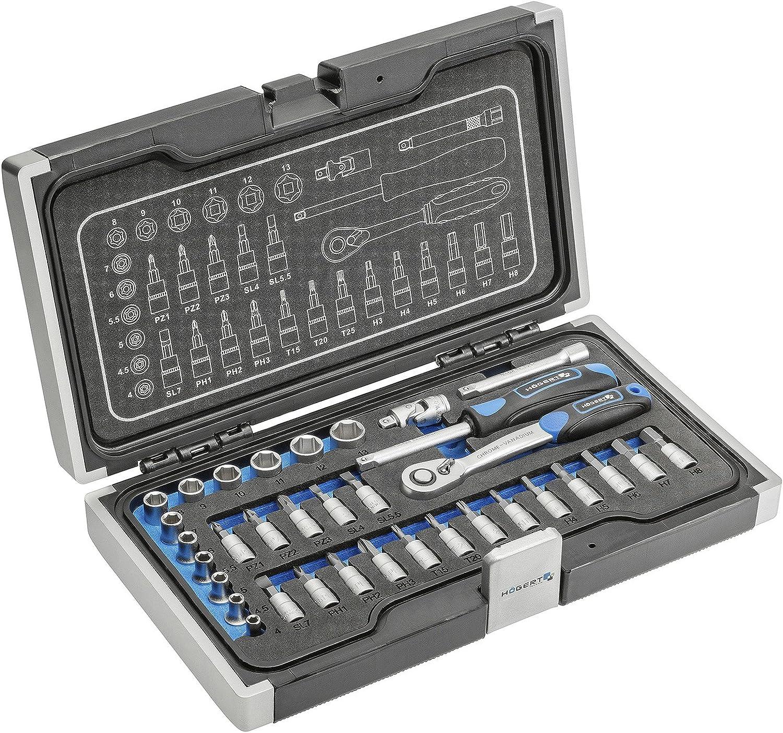 Werkzeugset 34-tlg. 34-tlg. 34-tlg. Ratschenset Knarrenset Werkzeugsatz von SECOTEC B07F6YS185   Billig ideal  07d95f