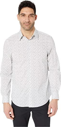 Conversational Print Stretch Shirt