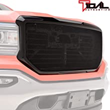Tidal Front Hood Grille Black Stainless Mesh with ABS Shell Fit 2016-2017 GMC Sierra 1500